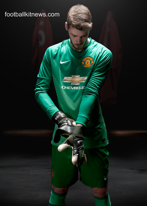 David de Gea Manchester United GK Kit 2014 15