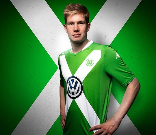 De Bruyne Wolfsburg Home Shirt