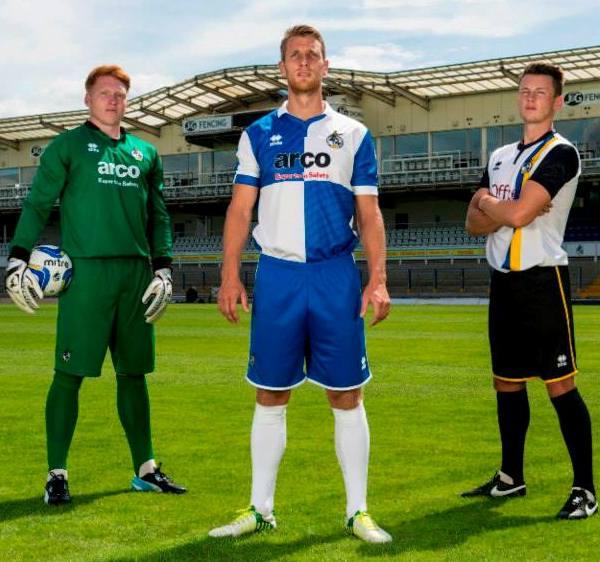 Errea Bristol Rovers Kit 2014 2015