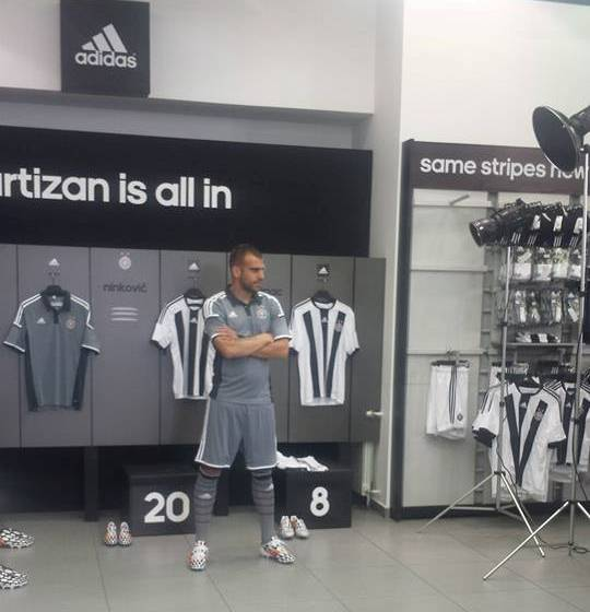 FK Partizan Away Kit 14 15