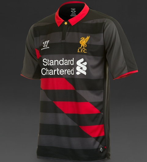 Leaked LFC Third Jersey 2014 15- Black   Red Liverpool 3rd Shirt ... de3911890