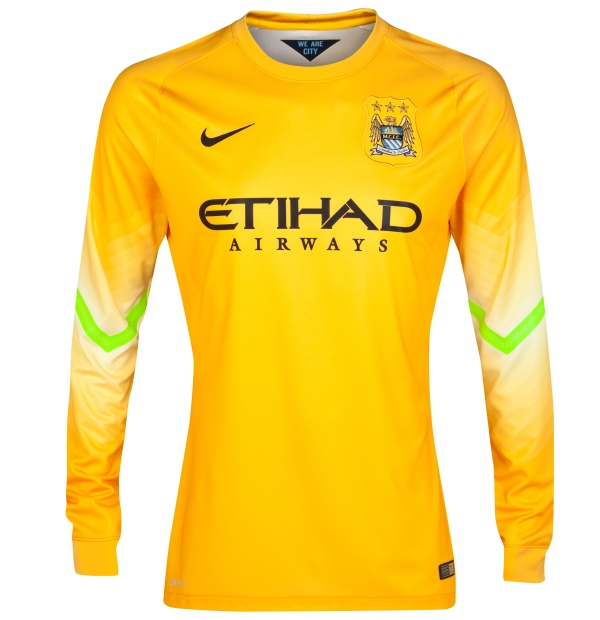 Man City Yellow Jersey 2014 15
