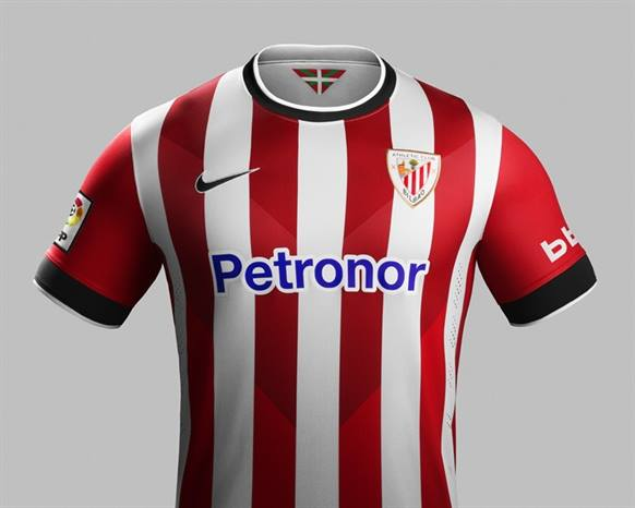 New Athletic Bilbao Home Shirt 2014 15