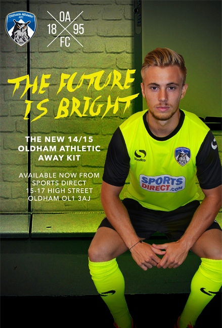New Oldham Athletic Away Kit 2014 15