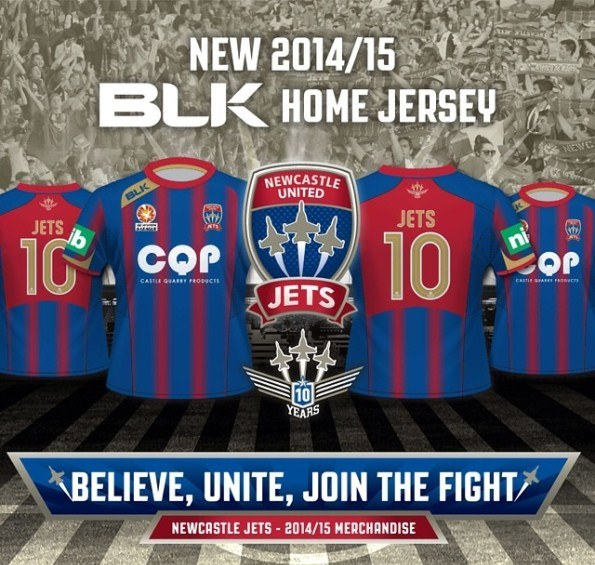 Newcastle Jets Home Kit 2014 15