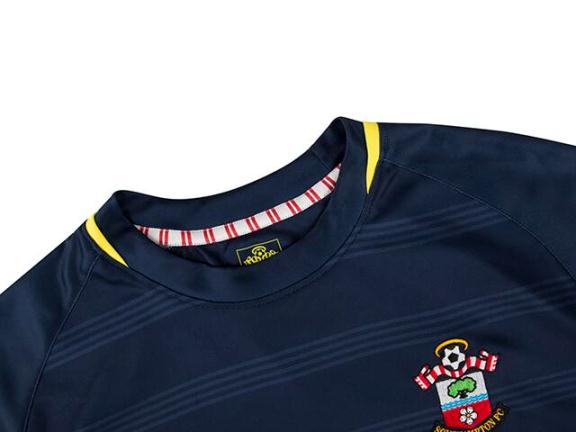 Saints Away Shirt Closeup