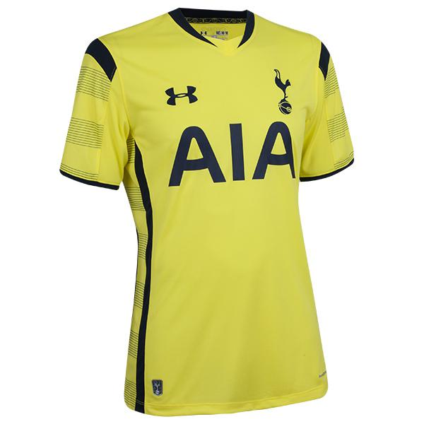 New Tottenham Third Kit 14 15 Under Armour Yellow Spurs Jersey 2014 2015 Football Kit News