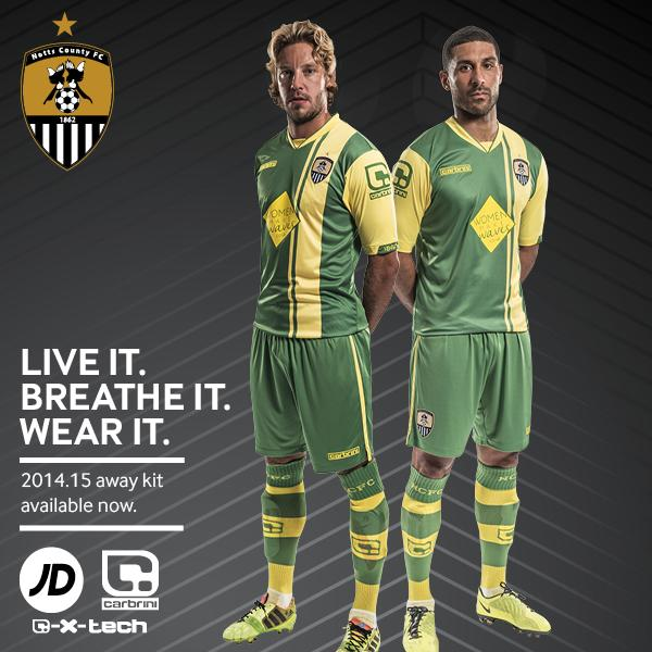 Notts County Away Kit 2014 15