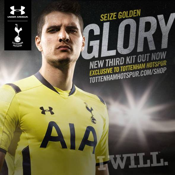 Yellow Tottenham Shirt 2014 2015