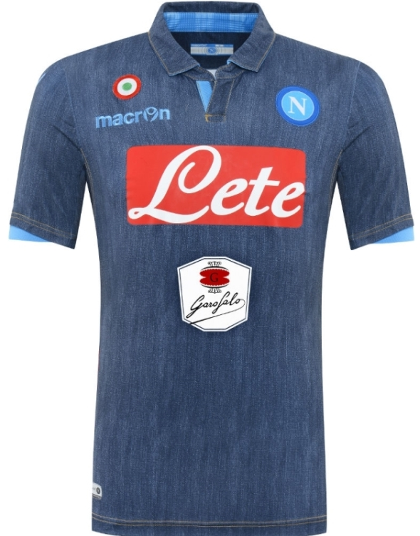New Napoli Denim Jersey 2014 2015