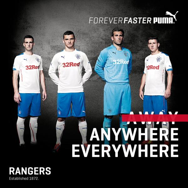 Rangers Away Strip 14 15