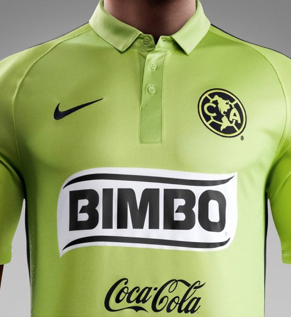 sale retailer fc1a8 87216 Green Club America Jersey 2015- New Club America 3rd Kit ...