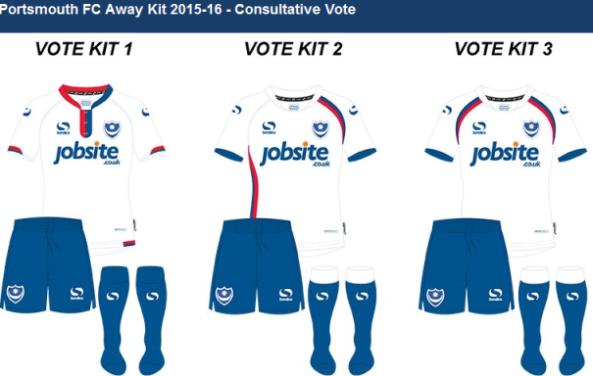 New Pompey Away Kit Vote 15-16