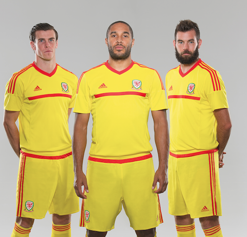 Yellow Wales Soccer Jersey 2015