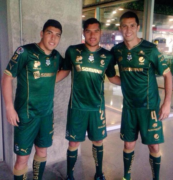 79c8d338c New Club Santos Laguna Third Jersey 2015- Green Santos Laguna Shirt ...