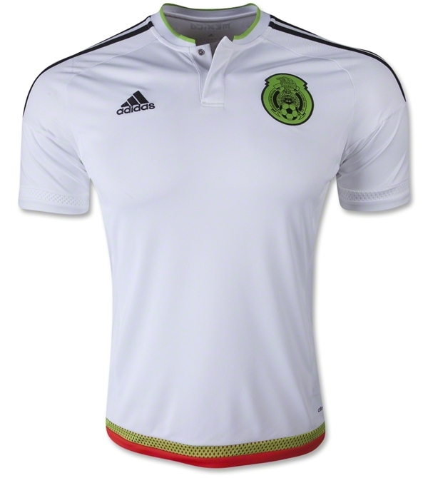 White Mexico Away Shirt 2015- Copa America Mexico Alternate Jersey ... d0a678554811