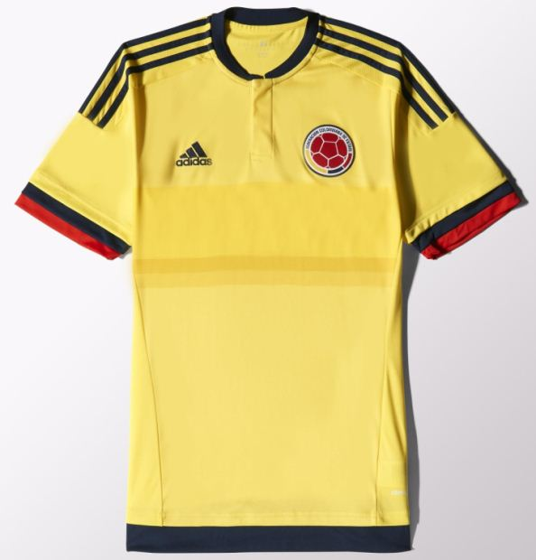 New Colombia Copa America Jersey 2015- Adidas Colombia Home Kit 15 ... ef0162014