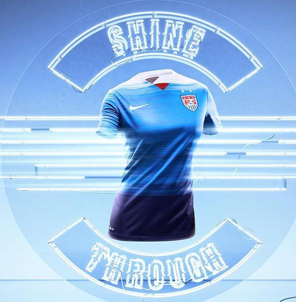 USA Blue Soccer Jersey 2015
