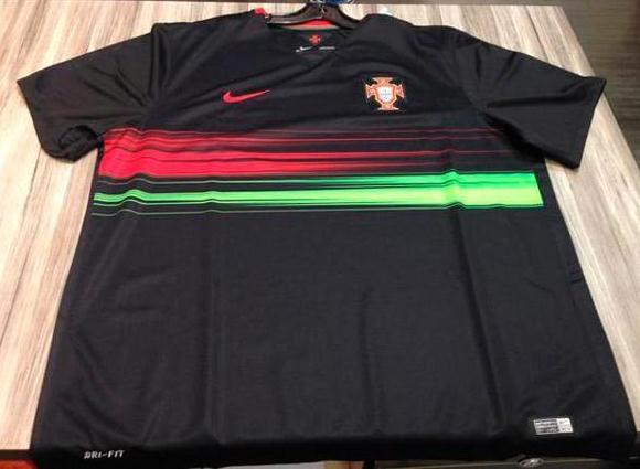 dcb7a2382 New Portugal Away Shirt 2015-16- Black Portugal Jersey 2015-2016 ...