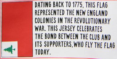 New England Revolution Words on Jersey