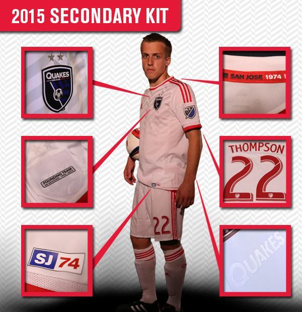 San Jose Earthquakes Away Jersey 2015