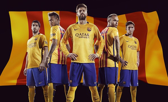 Barcelona Away Kit 15 16