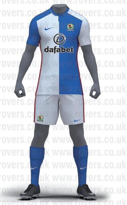 Blackburn rovers home kit 2015 2016 new rovers dafabet for Blackburn home