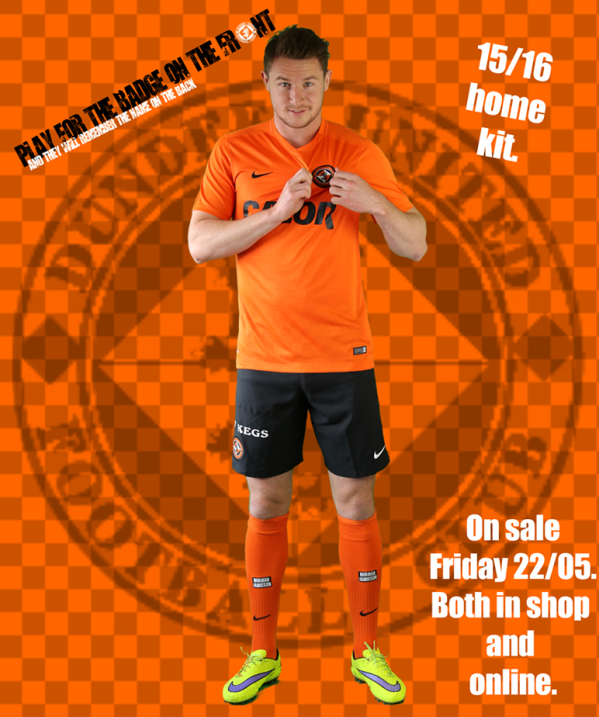 Dundee United Home Kit 2015 16
