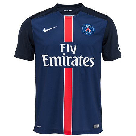 official new psg home kit 15 16 by nike unveiled. Black Bedroom Furniture Sets. Home Design Ideas