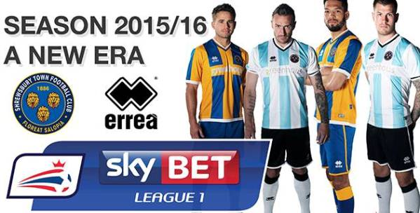Shrewsbury Errea Kit 15 16