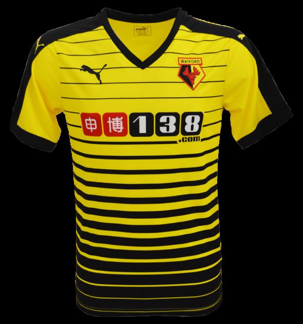 Watford Premier League Shirt 2015 16