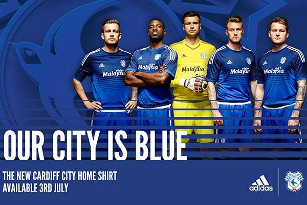 Cardiff City Home Kit 15 16