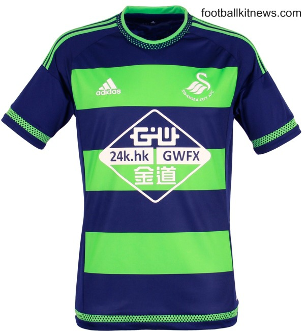green swansea kit 15 16 adidas swansea city away shirt 2015 2016 football kit news new. Black Bedroom Furniture Sets. Home Design Ideas