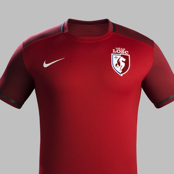 New Lille Kit 15-16- Nike LOSC Home Jersey 2015-2016  a4dd93a1996