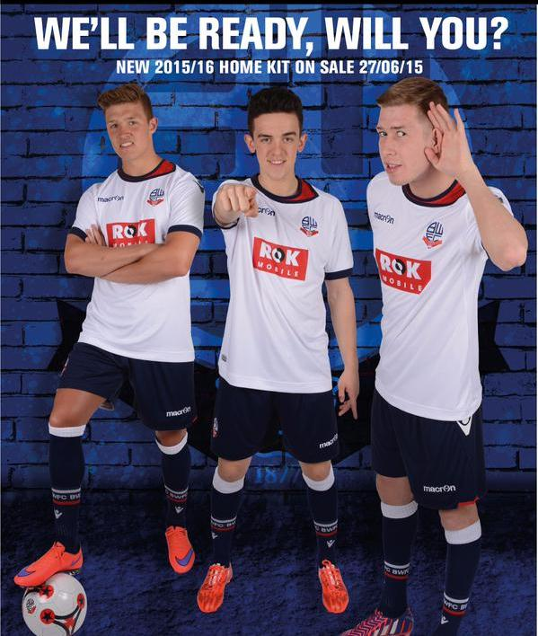 New Bolton Home Kit 2015 16