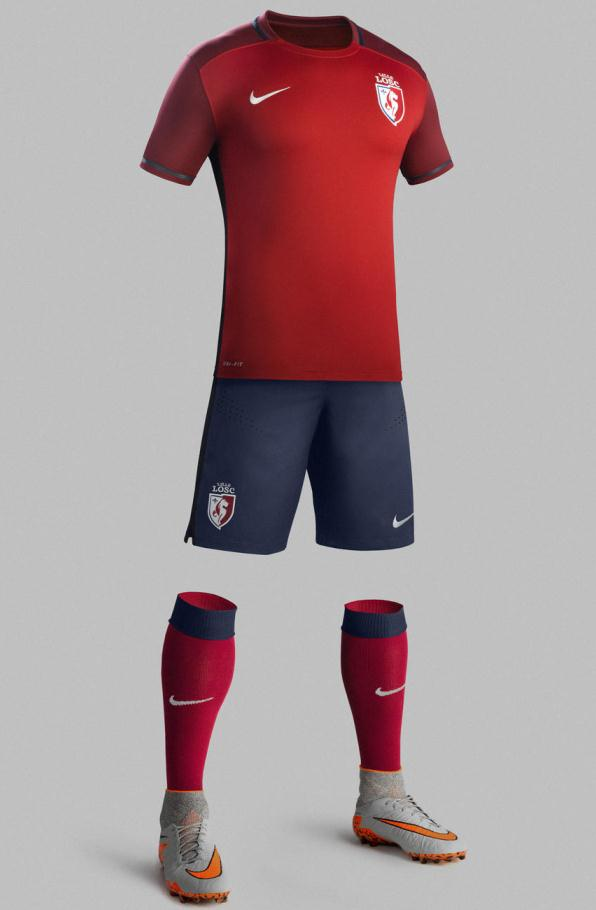 New Lille Kit 15-16- Nike LOSC Home Jersey 2015-2016  a7835741a