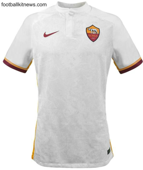 White Roma Jersey 2015-2016- New AS Roma Away Kit 2015-16 Nike ... ef4e2e6d0
