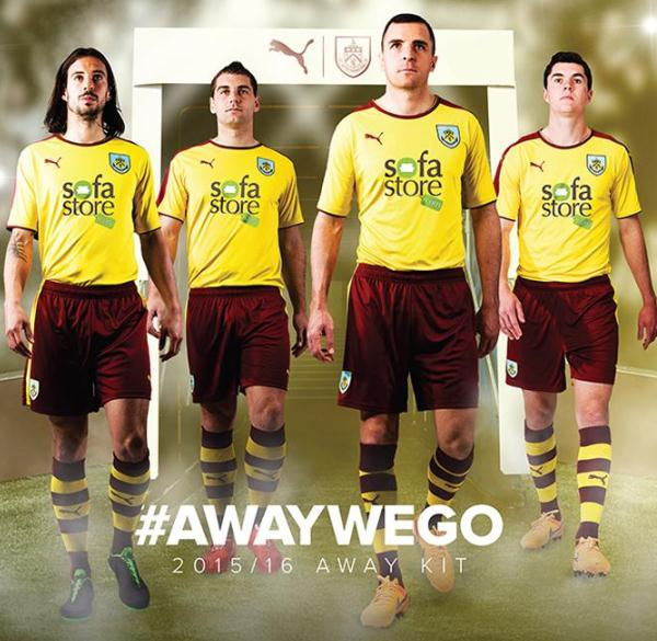 Burnley Away Shirt 2015 2016