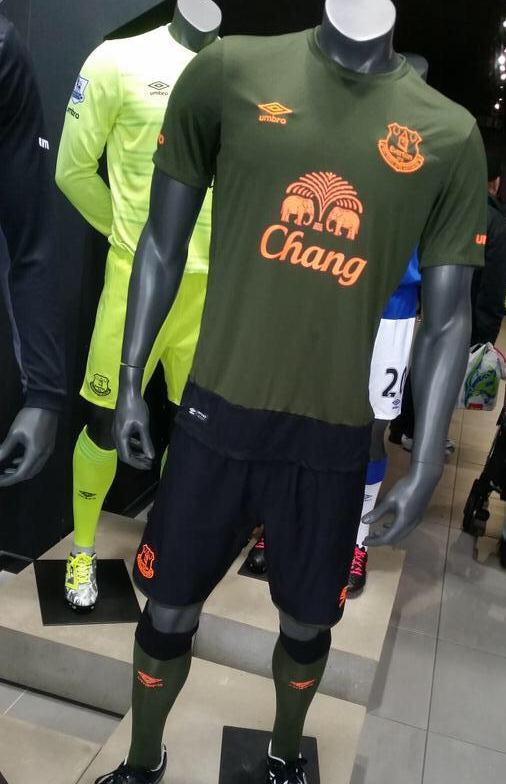Green Everton Kit 2015 2016