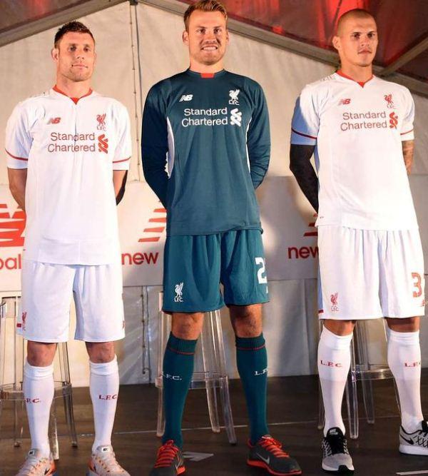 new arrival b59cf 4de4c White Liverpool Away Kit 15-16- LFC Alternate Jersey 2015 ...