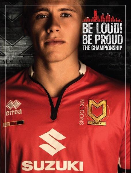 MK Dons Away Shirt 2015 16