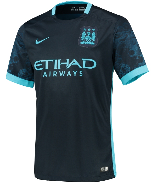 d07c216942c New Man City Away Kit 2015-2016- Nike Blue Moon Manchester City ...