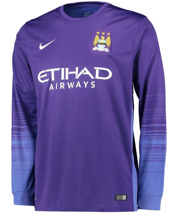 Purple Man City Goalkeeper Shirt 2015 2016