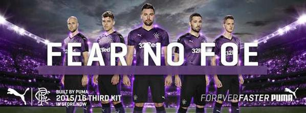 Rangers Third Kit 15 16