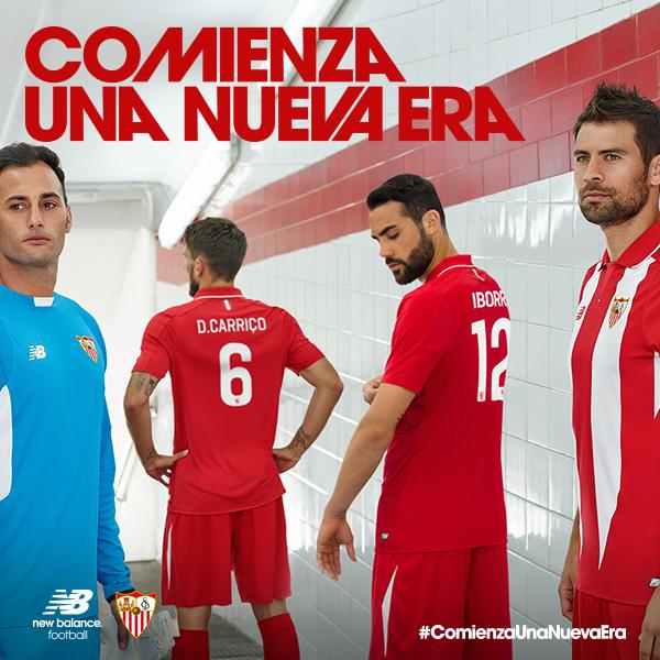 79304d378 Sevilla New Balance Kits 2015-2016- Sevilla FC Jerseys 15-16 Home ...