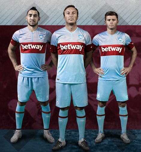 cheap for discount 60ffe fa23a Blue West Ham Away Kit 2015-16 WHUFC Alternate Shirt 15-16 ...