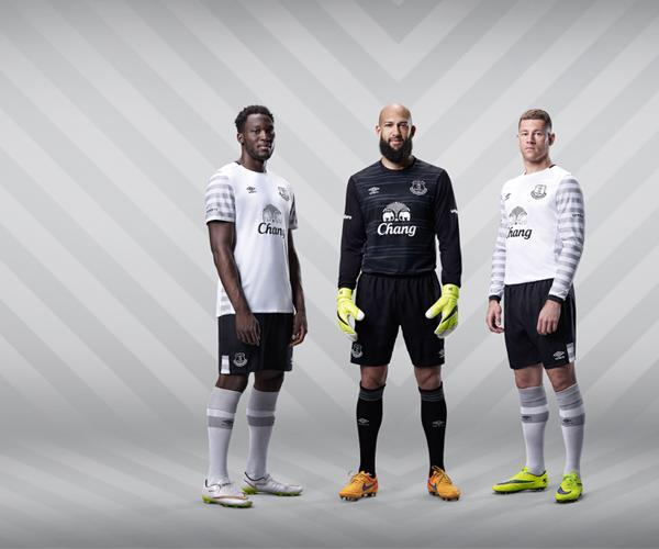 White Everton Kit 2015 16