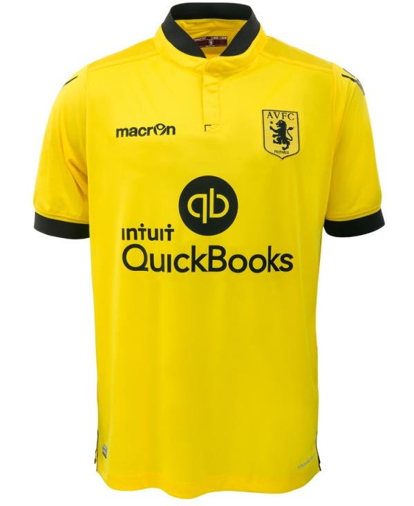 Yellow Aston Villa Shirt 2015 2016