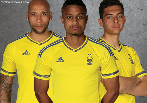 Yellow Nottingham Forest Kit 2015 16