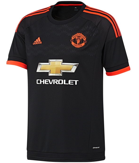 Black Man Utd Third Shirt 2015/16- New Man U Third Kit 15-16 ...